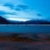 Nighttime view across Lake Wanaka