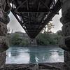 Through stone piers of Earnscleugh Bridge