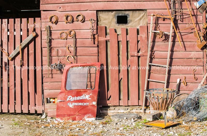 Old shed and paraphernalia at Paradise.