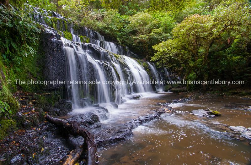 Purakaunui Falls in Catlins South Island New Zealand.
