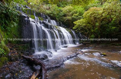 The Purakaunui Falls