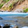 Water rushing over rocky bottom of Rangatikei River
