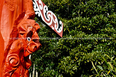 Maori carving and pattern.