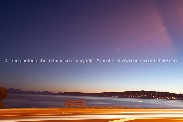 Evening over Lake Taupo.