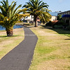 Pathway around edge of Lake Taupo.