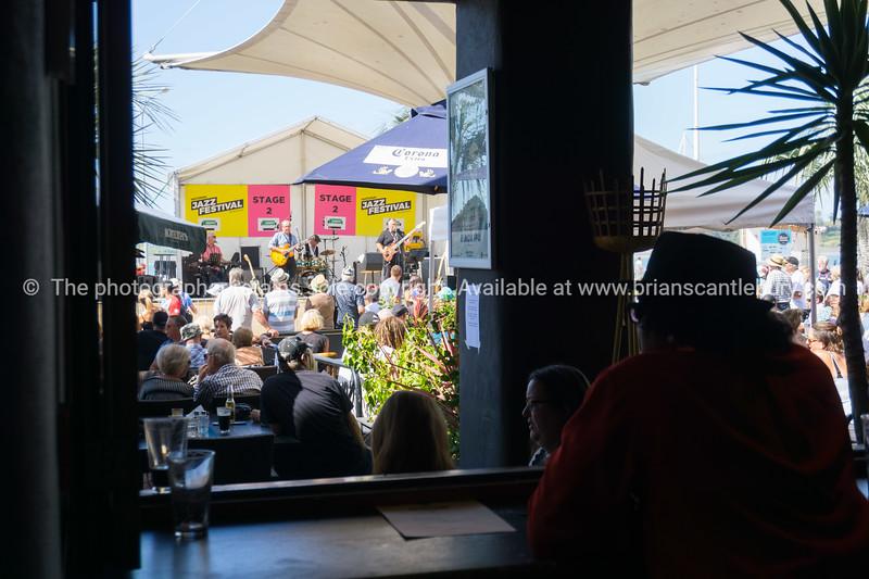 enjoying the Tauranga National Jazz Festival