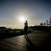 Silhouette on boardwalk, Mount maunganui