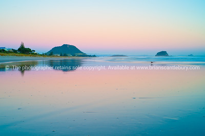 Tauranga photo; Colours of sunrise and Mount reflections on beach. See; www.blurb.com/b/3811392-tauranga mount maunganui landscape photography, Tauranga Photos; Tauranga photos, Photos of Tauranga Also see; http://www.brianscantlebury.com/Events
