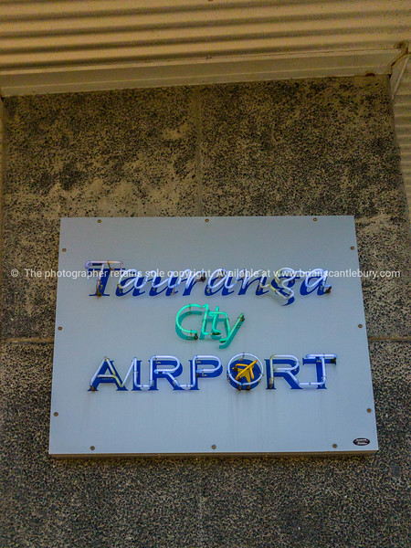 Tauranga Airport sign