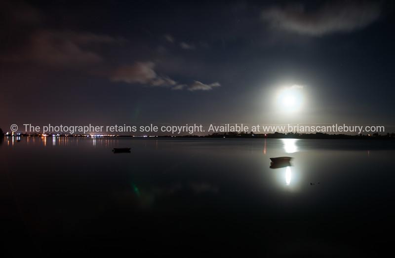 Tauranga Harbour on full moon.