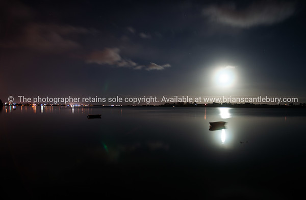 Tauranga Harbour on full moon.