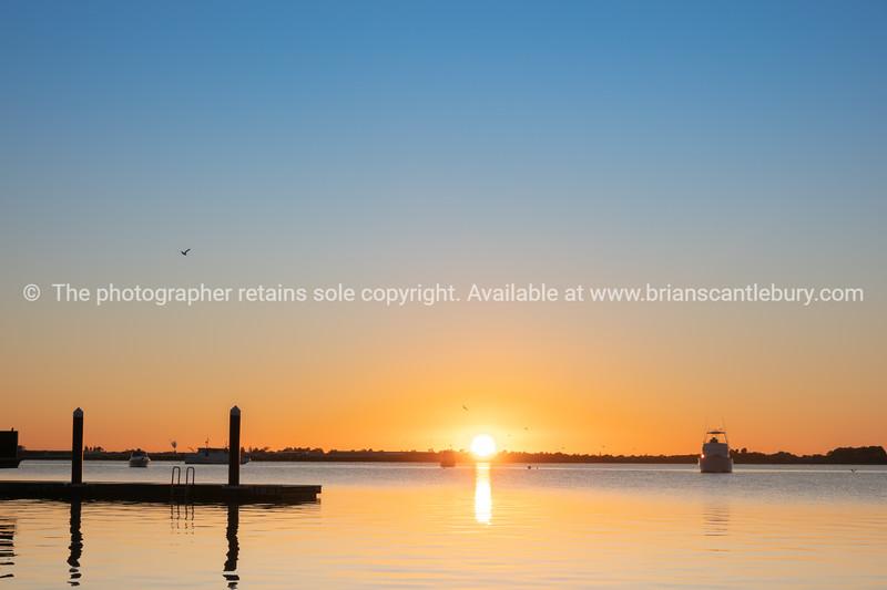 Sunrises over Tauranga harbour.
