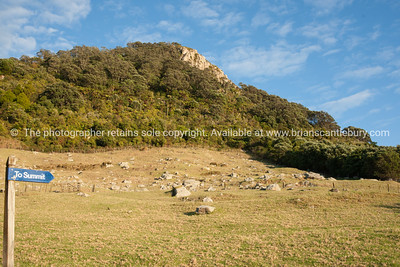 "Mount maunganui ""to summit"" sign"