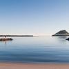 Tauranga Harbour with iconic Mount Maunganui on horizon.