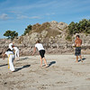 """Capoeira being practised on Mount Maunganui beach, Tauranga, New Zealand.<br /> Capoeira is a game, a sport, an art and a life philosophy, founded in Brasil in 1984. -3<br /> Model Release; no. See;  <a href=""""http://www.blurb.com/b/3811392-tauranga"""">http://www.blurb.com/b/3811392-tauranga</a> mount maunganui landscape photography, Tauranga Photos; Tauranga photos, Photos of Tauranga Also see; <a href=""""http://www.brianscantlebury.com/Events"""">http://www.brianscantlebury.com/Events</a>"""