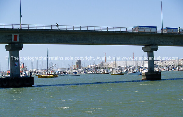 Crossing Tauranga Harbour.