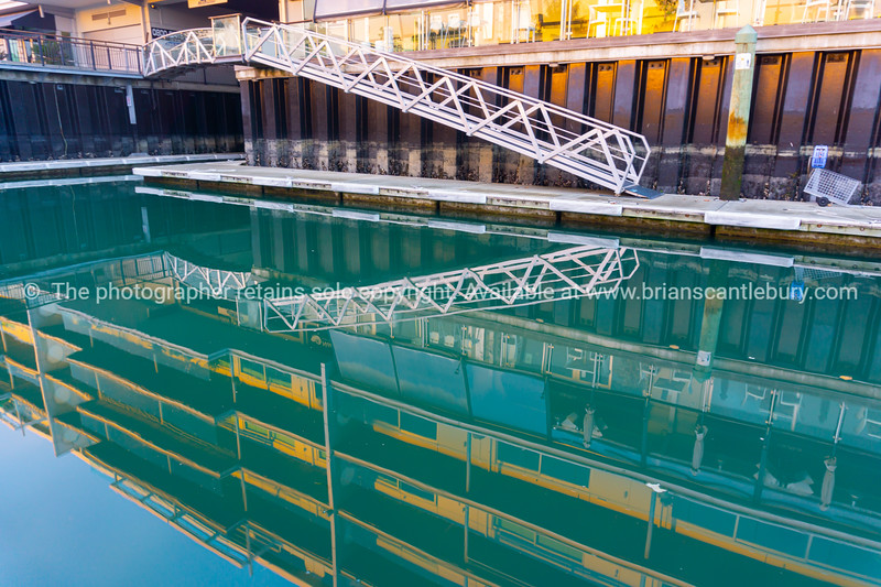 Pier access and apartment reflections