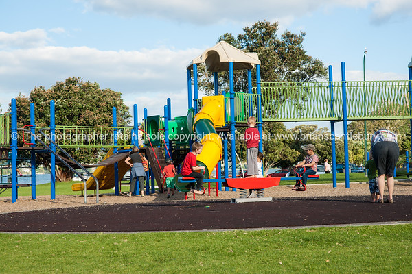 """Playground and children playing, Tauranga Memorial Park.<br /> Model release; no. See;  <a href=""""http://www.blurb.com/b/3811392-tauranga"""">http://www.blurb.com/b/3811392-tauranga</a> mount maunganui landscape photography, Tauranga Photos; Tauranga photos, Photos of Tauranga Also see; <a href=""""http://www.brianscantlebury.com/Events"""">http://www.brianscantlebury.com/Events</a>"""