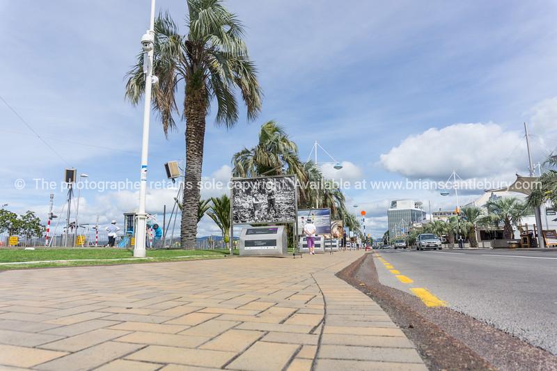 Tauranga's Strand with winning competition photos on display