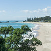 Mount ocean beach from side on Mount Maunganui