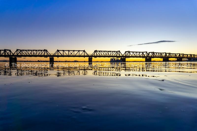 Tauranga historic Railway Bridge is a steel truss bridge crossing the harbour from city downtown to Matapihi peninsula.