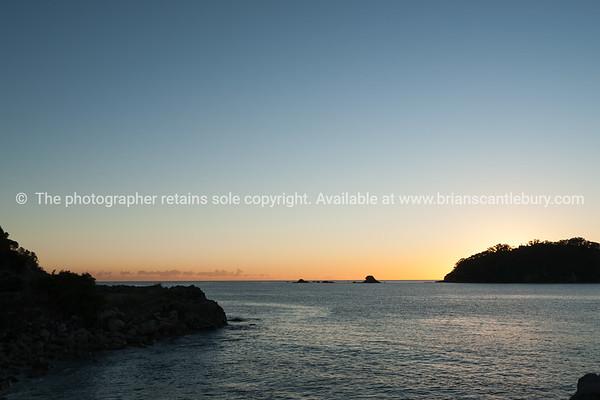 Ocean at sunrise.