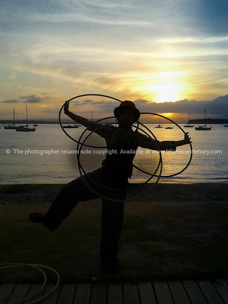 Juggler on Pilot Bay.