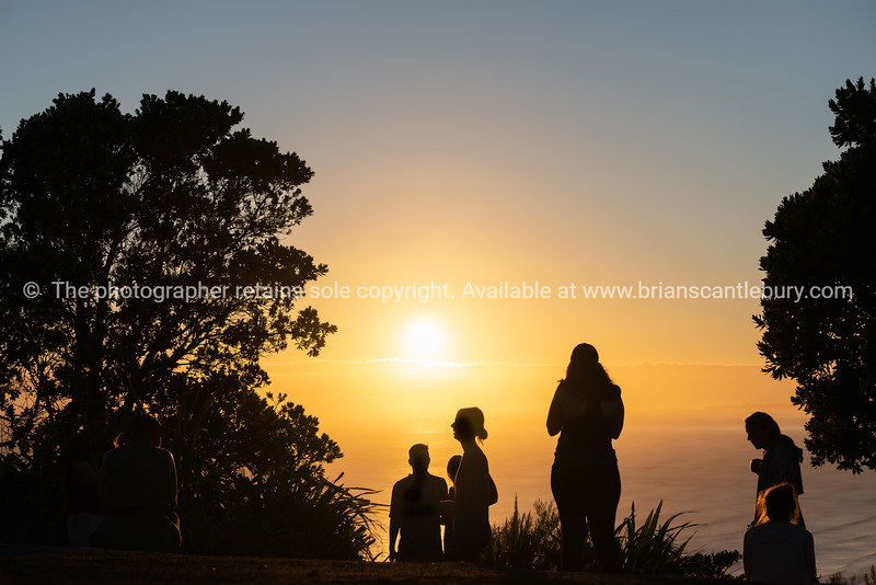 View into sun from sumit of Mount Maunganui