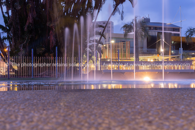 Taurang City waterfront water-feature