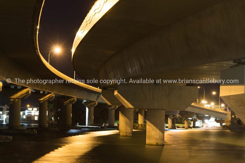 Tauranga Harbour Bridge at night