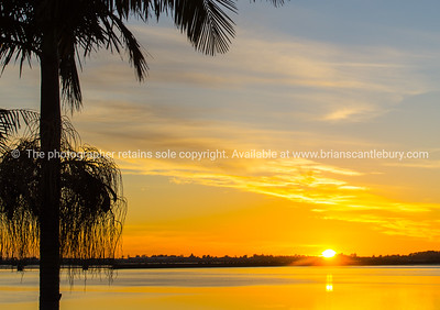 Sunset over Tauranga Harbour.