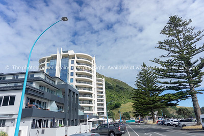 Apartment buildings on Mount Maunganui Marine Parade