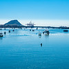 Tauranga Harbour long view from city