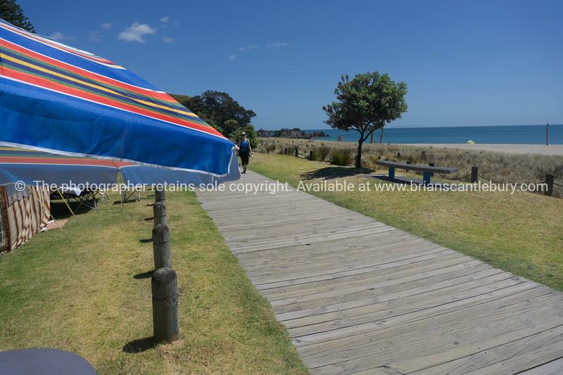 Ocean beach and base track walkway Mount Maunganui, Mount Maunganui