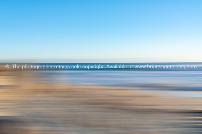Coastal beachside blur in soft tones
