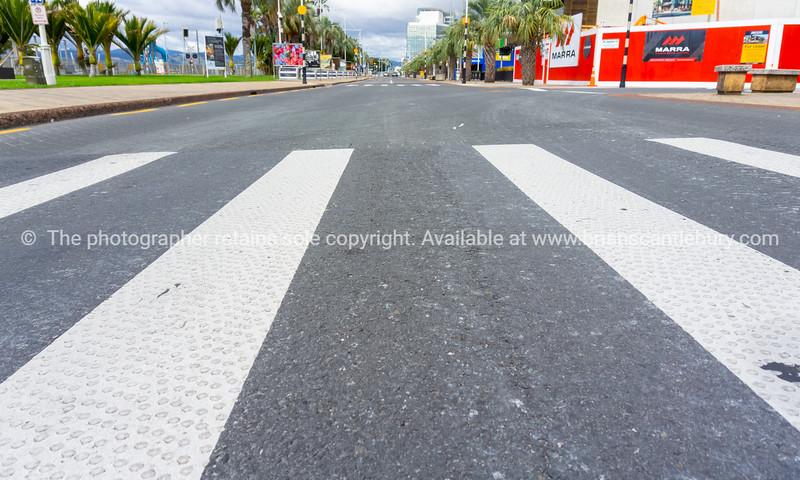 Empty city streets leave an eerie feeling.