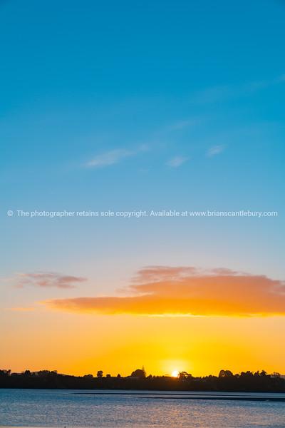 Clear golden sunrise