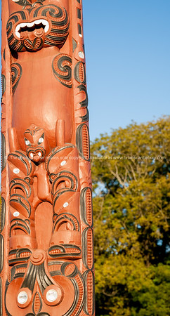 """Traditional maori carved pole at tyhe entrance to the Tauranga Harbour Bridge. See;  <a href=""""http://www.blurb.com/b/3811392-tauranga"""">http://www.blurb.com/b/3811392-tauranga</a> mount maunganui landscape photography, Tauranga Photos; Tauranga photos, Photos of Tauranga Also see; <a href=""""http://www.brianscantlebury.com/Events"""">http://www.brianscantlebury.com/Events</a>"""