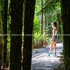 Attractive teenage girl on path of bush walk