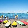 MOUNT MAUNGANUI NEW ZEALAND - FEBRUARY 10 2019:  Children developing water confidence and skills by Mount maunganui Surf Lifeguard Club Model/ property Release: NO for editorial or personal use please.