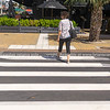 Pedestrian on new 3D crossing