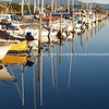 Reflections in calm of Tauranga Marina.
