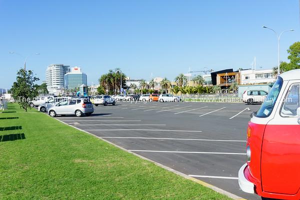 Carpark with Tauranga CBD behind.