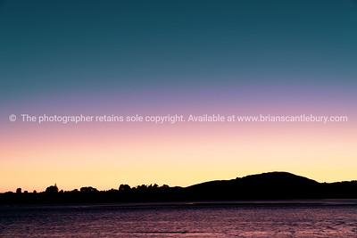 Intense colors of sunrise sky
