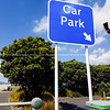 Car PArk sign, barrier arm and automatic access