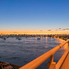 Tauranga Harbour Bridge on ramp at dawn