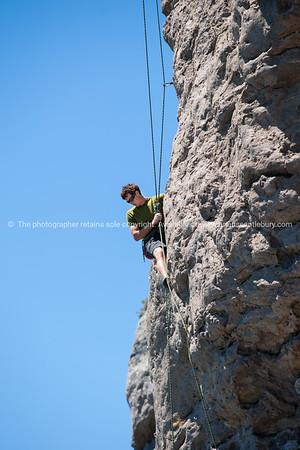 Rock climbing on Mount Maunganui.