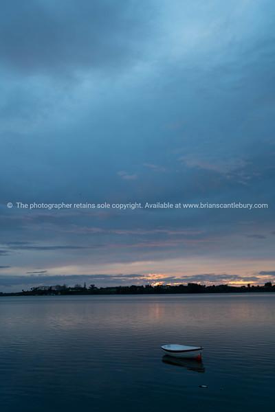 Overcast morning above Tauranga Harbour.