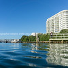 Tauranga harbour and high-rise apartment building
