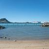 Across Tauranga harbor from Sulphur Point to landmark Mount Maunganui